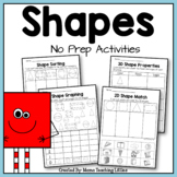 Shapes 2D and 3D No Prep Activities