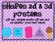 Shapes 2d 3d Poster Set in BRIGHT Polka DOTs