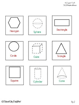 Shapes! 2d and 3d Identification