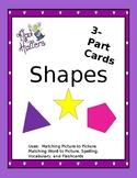 Shapes 3 part cards