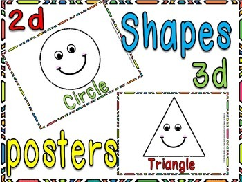 Shapes 3&2d posters
