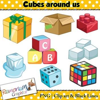 Shapes 3D Cube Clip art