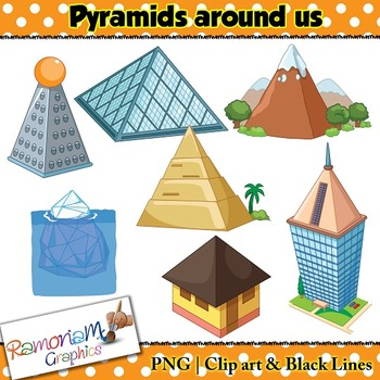 Shapes 3D Pyramid Clip art