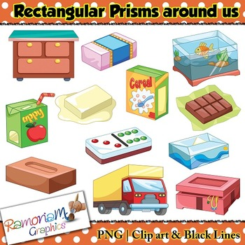 Shapes 3D Rectangular Prism Clip art by RamonaM Graphics | TpT