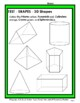 3D Shapes - Identify and Colour the Shapes - Grades 3-4 (3rd-4th Grade)