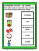 3D Shapes - Match the Objects to the 3D Shapes - Grades 2-