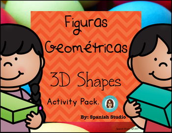 Shapes 3D (Spanish) Activity Pack.