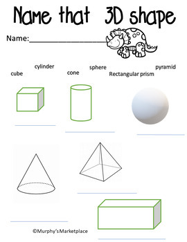 2D and 3D shapes- assessment/references