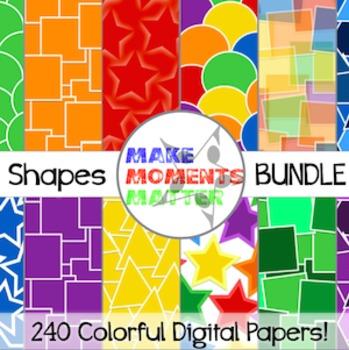 Shapes BUNDLE!  --  A Digital Paper Pack!