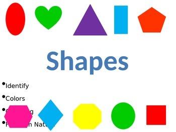 Shapes Activities & Slideshow for preschoolers