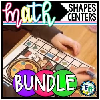 Shapes Activity Centers {Bundle of 8 Geometry Centers}
