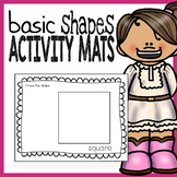 2D Shapes Activity Mats - Perfect for Playdoh, Manipulativ