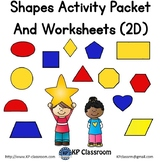 Shapes Activity Packet and Worksheets - 2D