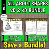 Shapes Activity Pages *BUNDLE & SAVE*