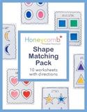 Shapes Matching Activities Pack for Preschool, PreK, Kinde