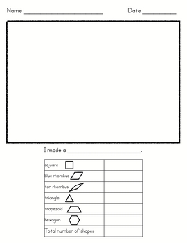 Shapes Activity/Identifying and Using Shapes