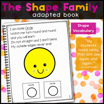 The Shape Family, a book about shapes: Adapted Book for Special Education