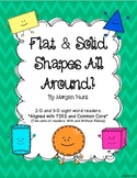 Shapes All Around: {Two and three-dimensional sight word readers}