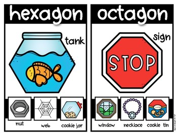 Shapes All Around Us {MINI POSTERS} for Kindergarten and First Grade Math