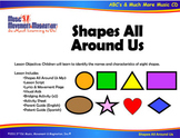 Shapes All Around Us Song(Mp3), Lesson Materials, Visuals and Activities