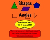Shapes & Angles SMARTboard Lessons Investigations Unit 4; CCSS aligned 3rd Grade