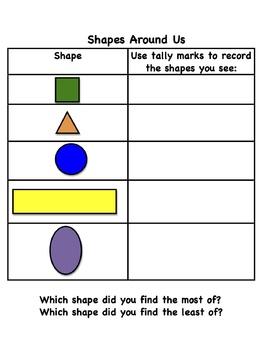 Shapes Around Us Using Tally Marks