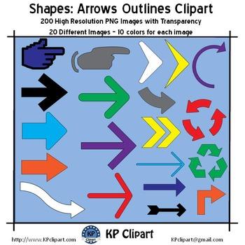 Shapes Arrows Outline Clipart