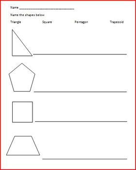 Shapes Assessment (pre or post)
