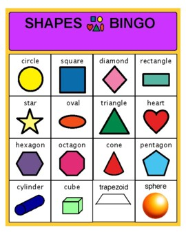 Shapes Bingo-Early Vocabulary Skills