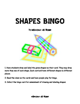 Shapes Bingo Game & Assessment