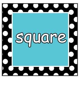 Shapes: Black and White polka dot