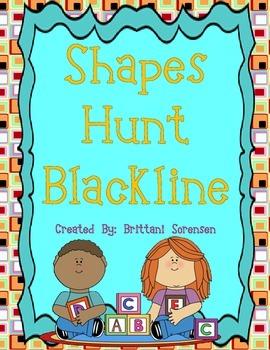 Shapes Blackline for a Shapes Hunt