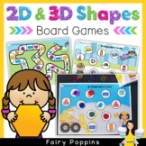 Shapes Board Games (2D and 3D Shapes)