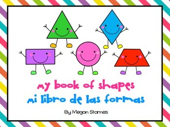 Shapes Book in English and Spanish