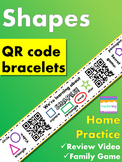 Kindergarten Shapes Homework {Bracelet with review video & family game}