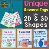 Shapes Reward Tags (Unique Reward Tags for 2D & 3D Shapes)