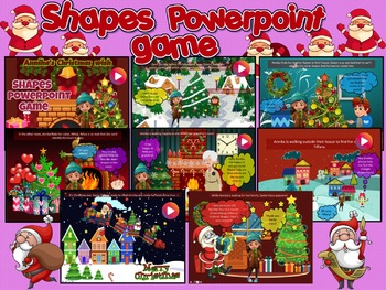Christmas Shapes Powerpoint Game - Animated with sound effects