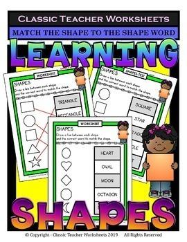 2D Shapes Bundle-Learning Shapes- Set 1 -1st Grade (Grade 1)-2nd Grade (Grade 2)