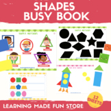 Shapes Busy Book Preschool Learning Binder Math Center Act