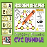Shapes: CVC Mystery Shapes BUNDLE (Phonics + Geometric Shapes)