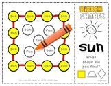 """Shapes: CVC Mystery Shapes """"Short U""""  (square, trapezoid, diamond)  K.G.2"""