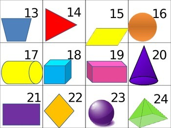 Shapes Calendar Numbers