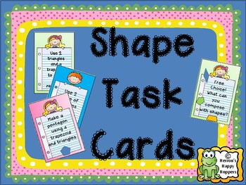 Shapes - Center Task Cards