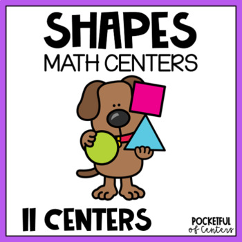 Shapes Centers for Pre-K and Kindergarten {BUNDLE}