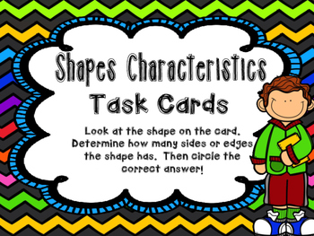 Shapes Characteristics Task Cards