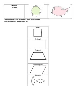 Shapes Cheat Sheet for students