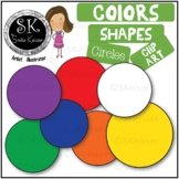 Free Shapes Circles Clip Art, Color Shapes, Print/Digital