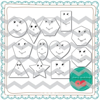 Shapes Clip Art  {Commercial Use}