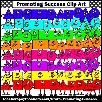 Shapes Clipart with Faces Commercial Use Math Images SPS