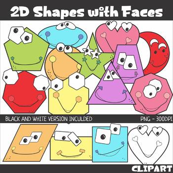 Shapes Clip Art, Line Art